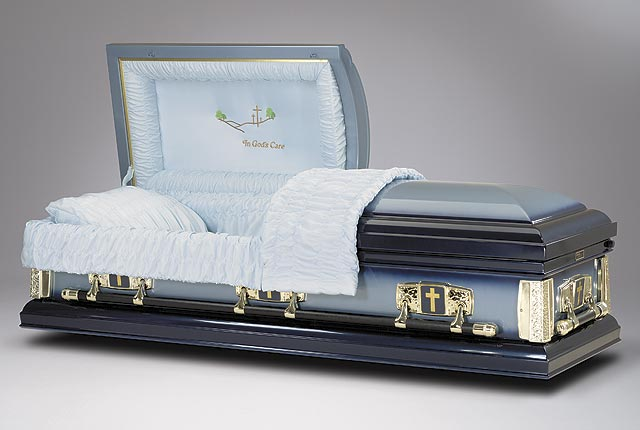 Brand name funeral caskets at wholesale prices for Black casket with red interior
